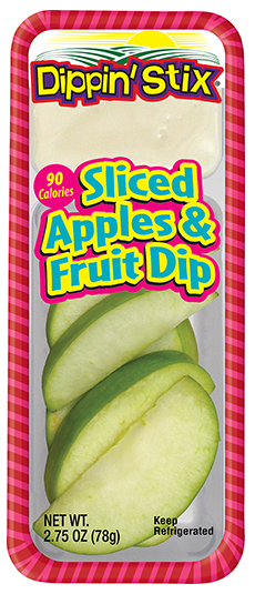 apple slices and fruit dip