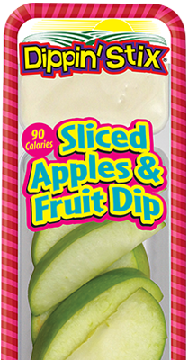 sliced apples & fruit dip, apple slices & dip