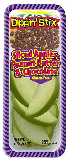 apple slcies with chocolate and peanut butter