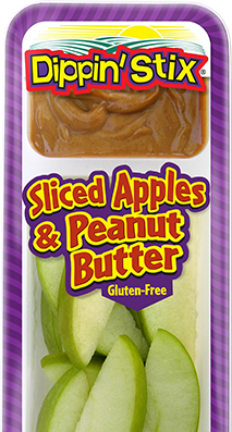 sliced apples & peanut butter, apple slices & dip