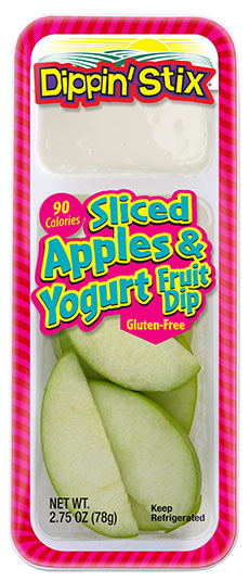 apple slices and yogurt