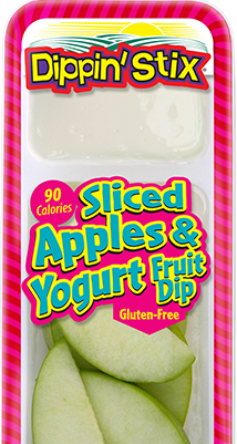 sliced apples & yogurt dip, apple slices & dip