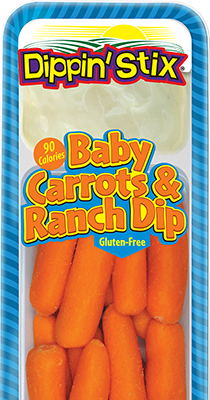 baby carrots & ranch dip, vegetable & dip snack