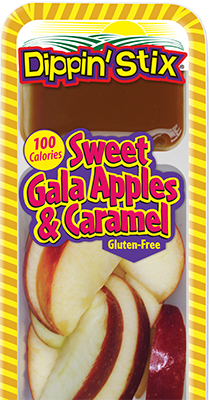 sweet gala apples & caramel, apple slices & dip snack